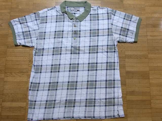即決USA古着●BASIC EQUIPMENTチェックデザイン半袖ポロシャツ!ビンテージレア  < 男性ファッションの