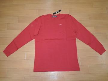 新品 マーブルズ MARBLES カットソー S赤 ロンTシャツ TMT
