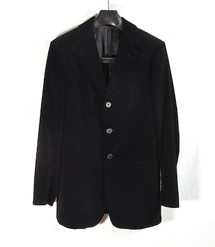 size44☆極美品☆エンポリオアルマーニ ベロア製3釦ジャケット