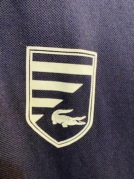 ラコステLACOSTEネイビー3ワッペンSポロシャツ半袖ロゴ1212春夏