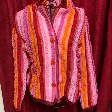 ピンク★カラフル☆ジャケット★フリーサイズ