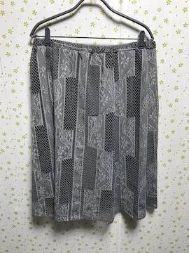 LLサイズ ジャガード織 縦柄スカート