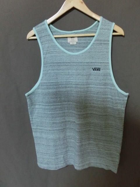 USA購入バンズ【VANS】シンプル胸ロゴ刺繍 タンクトップUS M  < 男性ファッションの