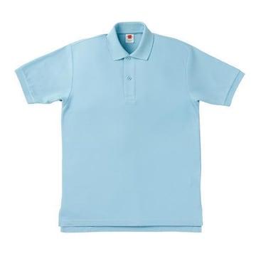 半袖ポロシャツサックスLLサイズ6.8oz丈夫ですMS307鹿の子