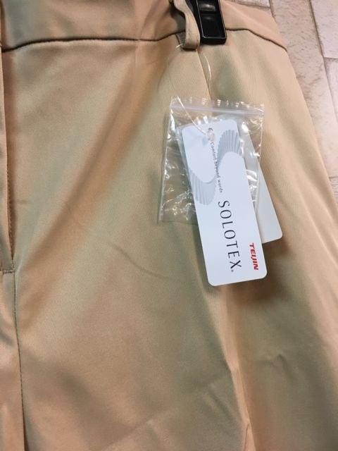 新品☆w114�pベージュきれいめパンツ♪テイジン素材☆s938 < 女性ファッションの