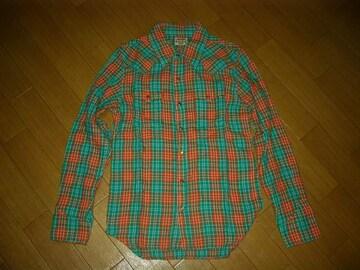 美中古マーブルズMARBLESダブルガーゼチェックシャツMオ緑TMT
