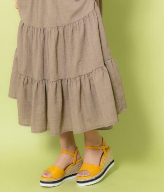 SALE●歩きやすい美脚サンダル●ジュートウェッジサンダル●24cm < ブランドの