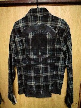 新品Roenロエン スワロフスキースカルコーティングチェックシャツジャケット 48