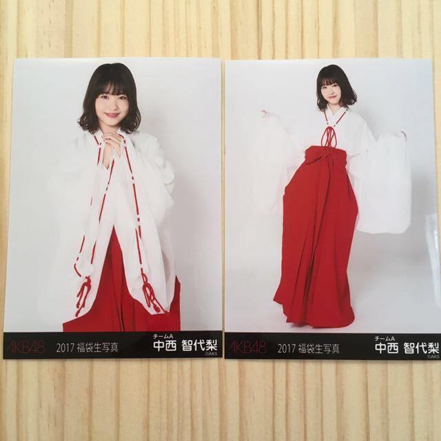 AKB48 中西智代梨 2017年 福袋 生写真 2枚セット  < タレントグッズの