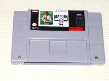 SFC★MADDEN NFL'94 SNES 海外版(国内本体動作不可)