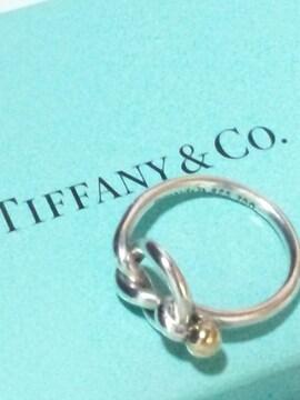 本物 ティファニー【TIFFANY&CO.】925SV 18金 ラブノット リング 11.5号