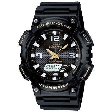 新品 即買い■カシオ アナデジ ソーラー腕時計 AQS810W-1B★人気
