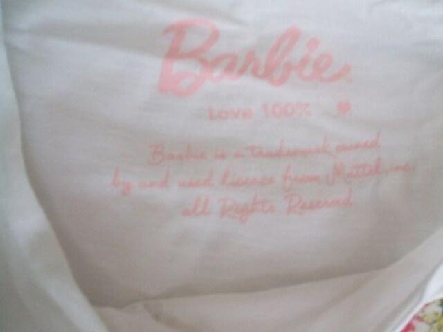 USEDバービー白ワンピースMサイズロゴ入りBarbie < ブランドの