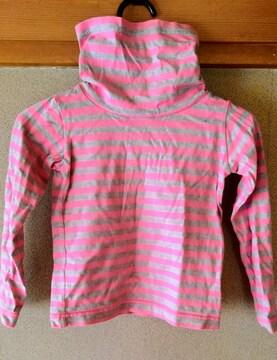 キッズ 子供服 タートルネック シャツ Tシャツ 長袖 ピンク 綿