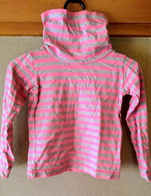 キッズ 子供服 タートルネック シャツ Tシャツ 長袖 ピンク 綿  < キッズ/ベビーの