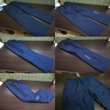 O 紺)アディダス ウィンドブレーカーパンツ DUQ94 中綿入りロングパンツ adidas