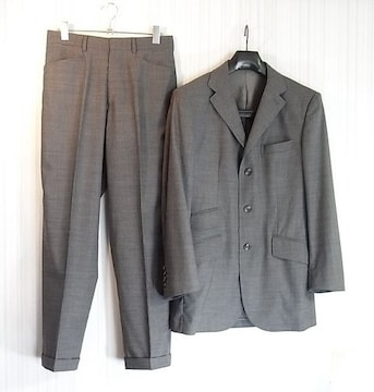 size44☆美品☆ダンヒル サマーウール製3釦スーツ グレー系