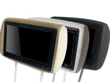 10.1インチヘッドレストモニター(レザー・左右)グレー