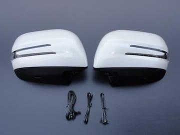 アロータイプLEDドアミラーカバー ランドクルーザー 200系 白