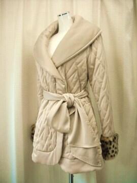【キャメロンレーシー】【未使用品】ボア付きベージュのコート