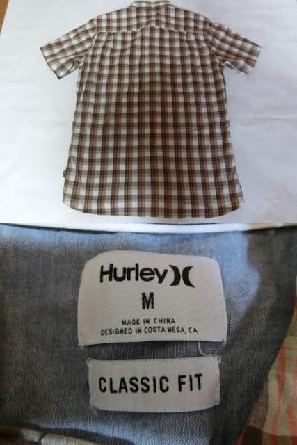 USA購入 ハーレー【Hurley】半袖シャツUS M < ブランドの