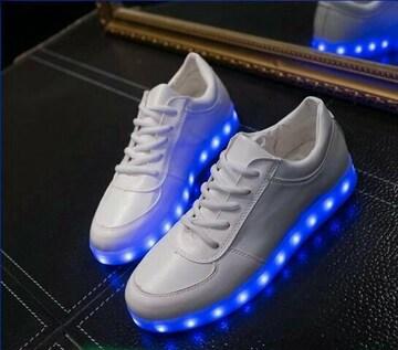 2color スニーカー 22.5〜25.5cm LED 光る靴