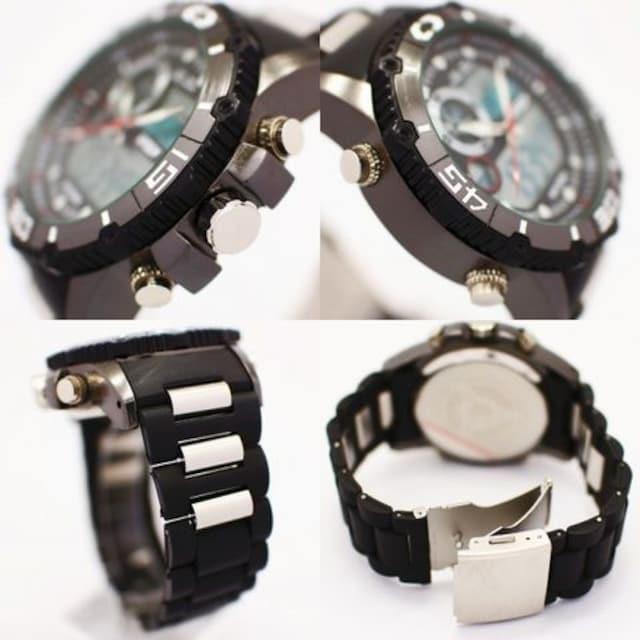 ★アナ&デジ・ダイバーズウォッチ風・MF・腕時計622BKBK < 女性アクセサリー/時計の