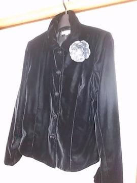 新品 SIL NOIR ベルベットジャケット黒 サイズМ