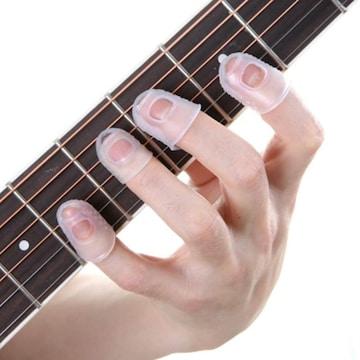 お試し★超人気 指先保護サック15個セット ギター指激痛対策