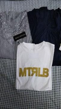 《新品タグ付き》 レディーストップス3枚まとめ売り(M〜L)