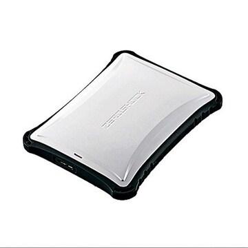 ☆ELECOM 外付けHDD 500GB ZEROSHOCK ホワイト
