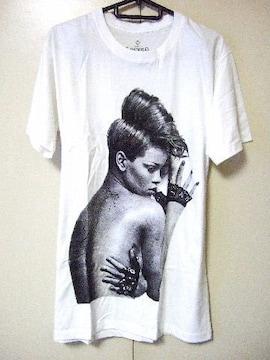 ◇ロックTシャツ◇RIHANNA◇リアーナ◇プリントTシャツ◇