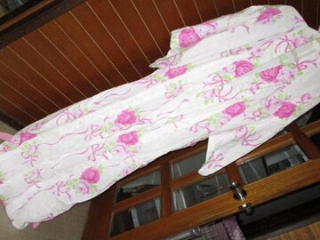 松田聖子☆姫系フラワーリボン模様*レディース浴衣*ピンク系