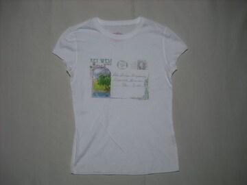 28 女 ラルフローレン ポロジーンズ 白 半袖Tシャツ XS