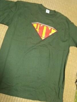 ミリタリー系 Tシャツ 2XL位 新同!スーパーヒーロー