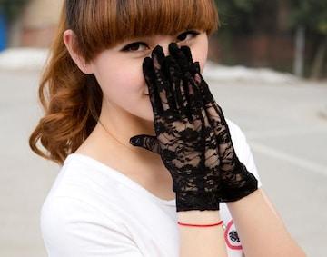 TA301即決 新品 手袋 グローブ 黒 結婚式 ハロウィン コスプレ ウィルス
