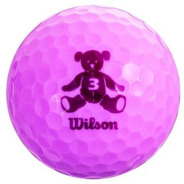 ゴルフボール BEAR3 1ダース 12個入り ラベンダー