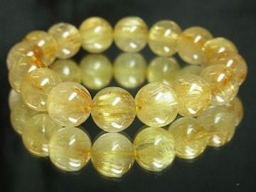 最高級!!金針水晶タイチンルチル12ミリ数珠ブレスレット!!ギャンブル運UP