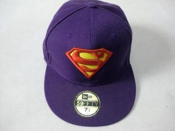 ニューエラ スーパーマン キャップ 57,8センチ