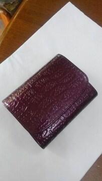 フォリフォリ 二つ折り財布《紫》エナメル素材
