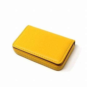 レザー 名刺入れ カードケース イエロー 1/B1S