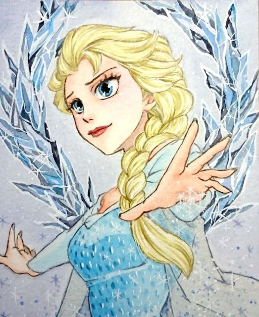 自作イラスト アナと雪の女王 エルサ 新品 中古のオークション