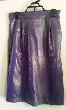 グレースコンチネンタルグレーゴールドラメ36タイトスカート