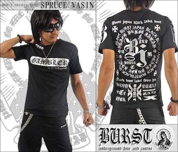 【MAD BURST JAPAN】70536Tシャツ黒銀XL