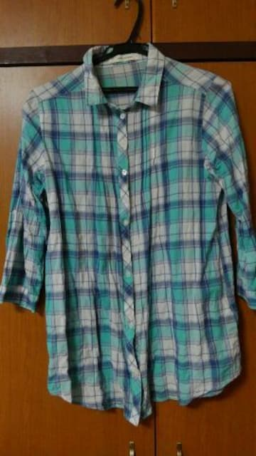 七分袖ロングチェックシャツ☆  < 女性ファッションの