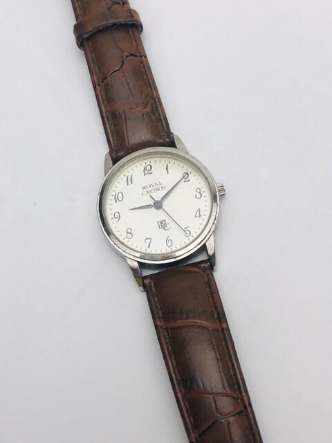 T048 ROYAL CROWN ロイヤルクラウン 腕時計 稼動品 クォーツ < 女性アクセサリー/時計の