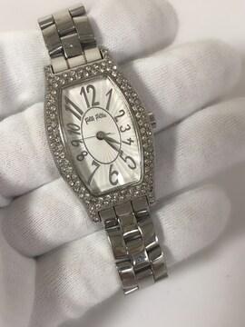 T152 美品★  フォリフォリ 腕時計 クォーツ ラインストーン