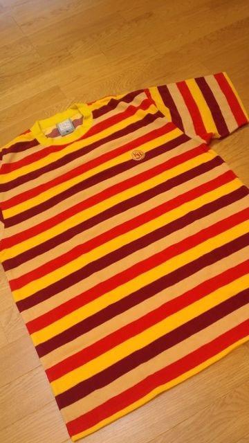 KAZZROCKカズロック パイル生地 ボーダーTシャツサイズXL  < 男性ファッションの