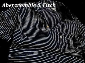 【Abercrombie&Fitch】アバクロ Vintage Denim インディゴ染 ポロシャツ XL