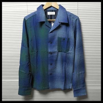 JARLD 遠州生地オープンカラーチェックシャツ/M 定価11,880円
